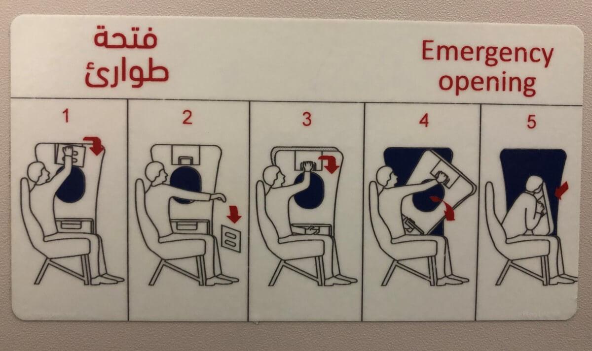 Anleitung Notausstieg im Flieger