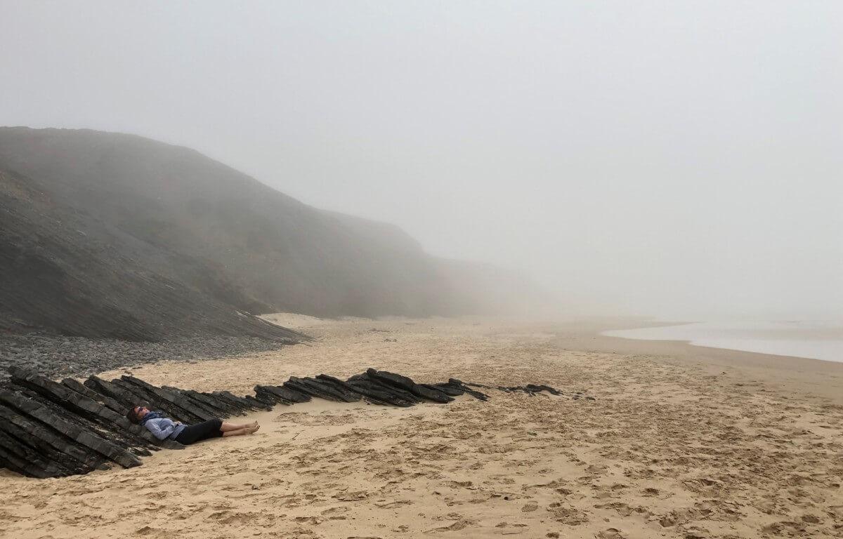Algarve Highlights Strand Nebel
