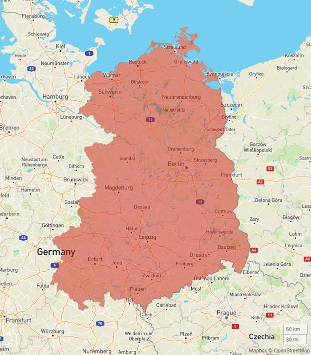 Karte Ostdeutschland Vergleich Portugal