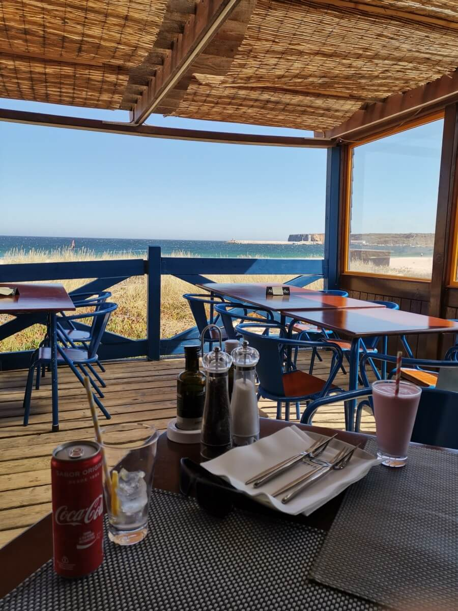 Portugal Westküste Restaurant Getränke
