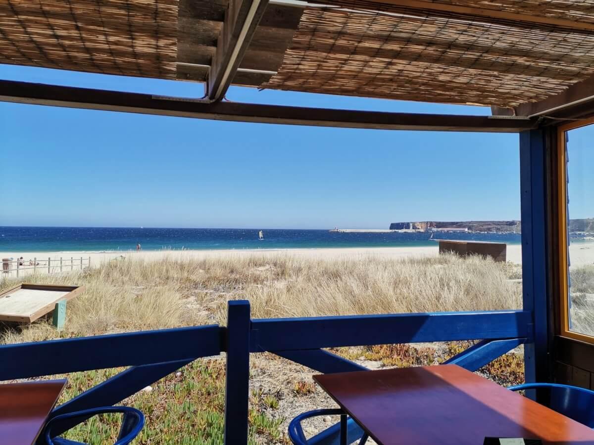 Portugal Westküste Restaurant Meerblick