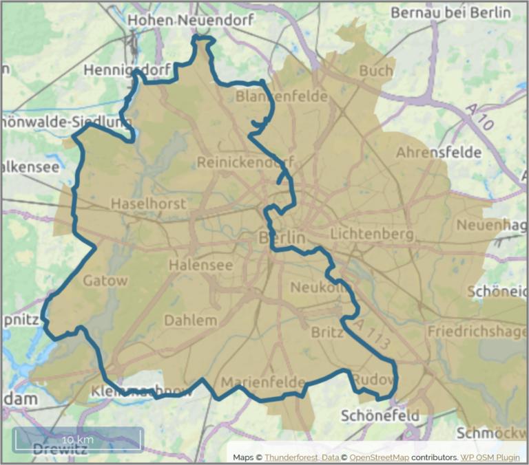 Karte Berlin Mauerweg