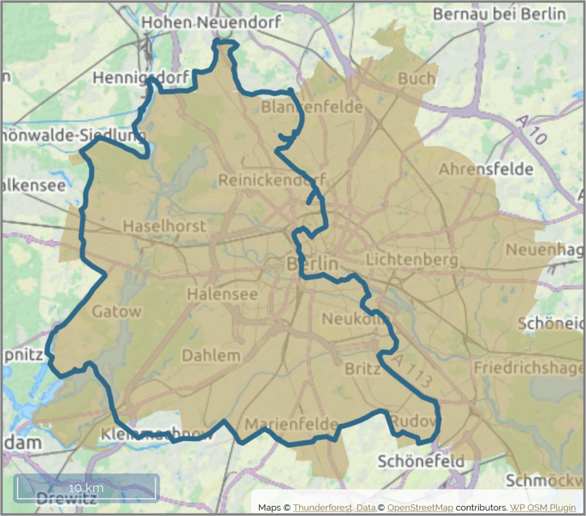 Map Berlin Mauerweg