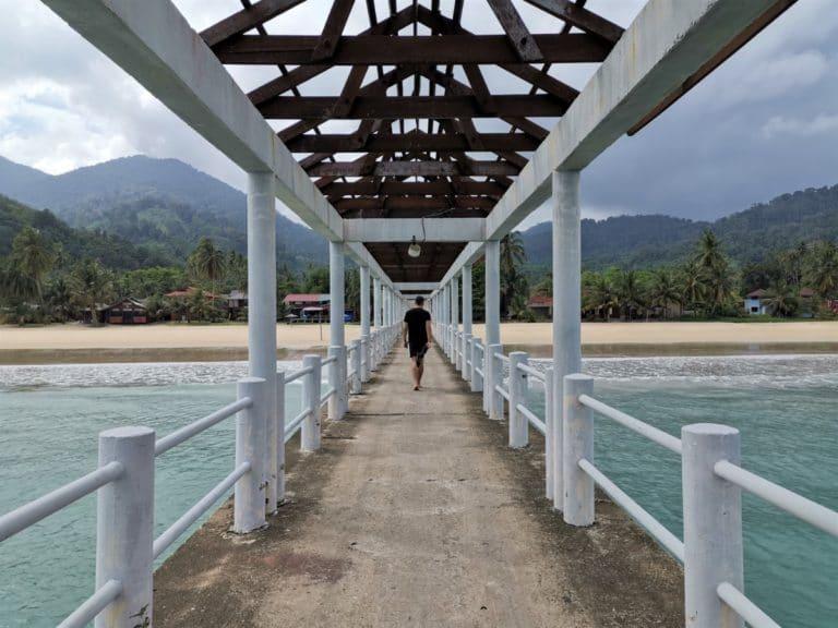 Backpacking Malaysia Meerbrücke 1
