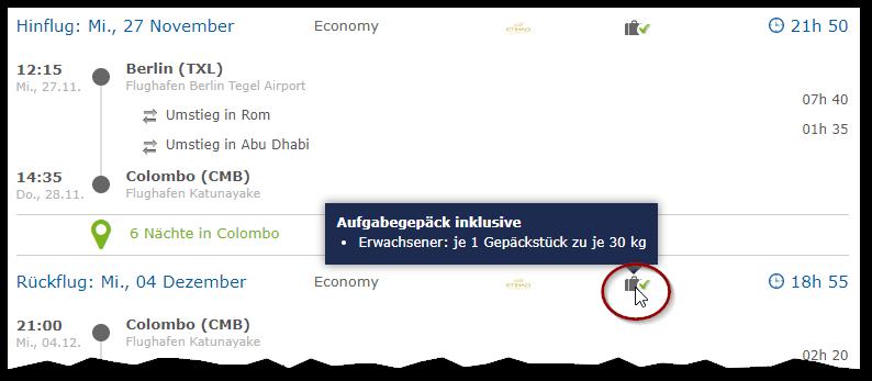 Flucscanner Check24 Screenshot