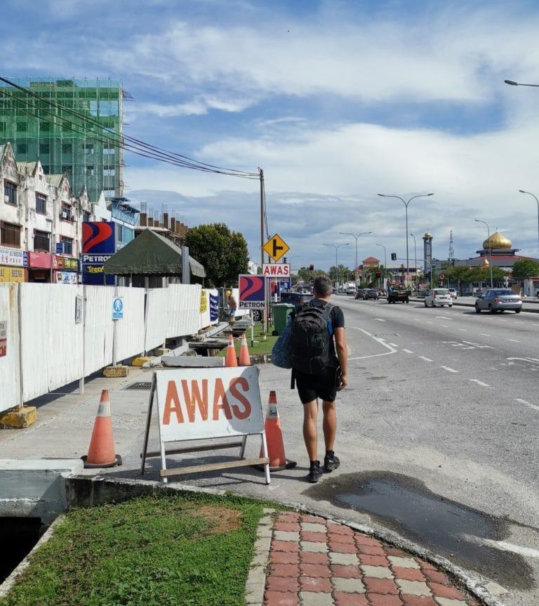 Reisebericht Malaysia Achtung Straße