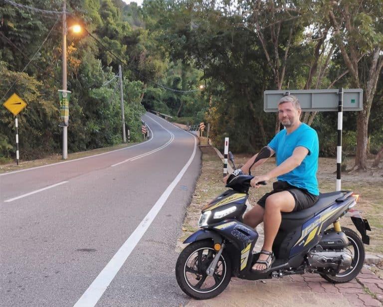 Reisebericht Malaysia Moped fahren