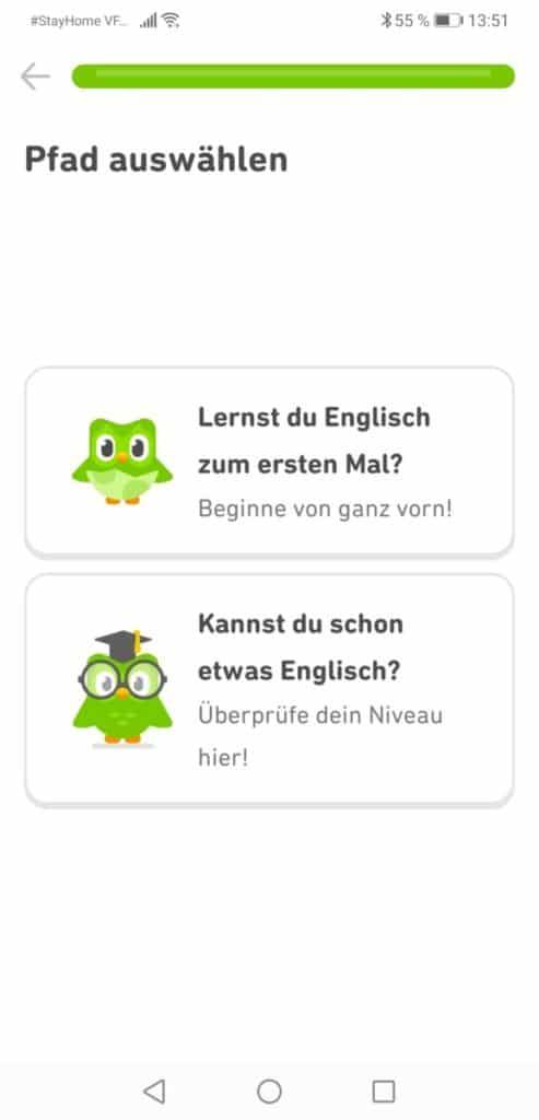 Englisch verbessern duolingo App 4