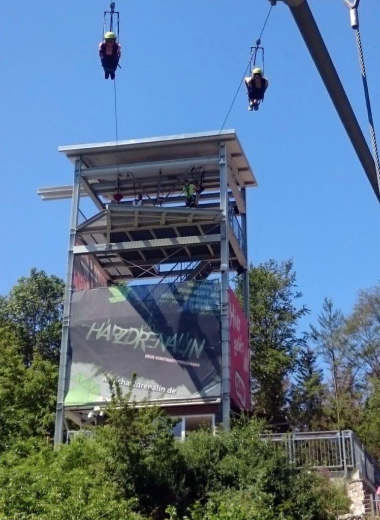 Harz Megazipline Erfahrungen fliegen