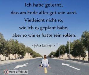 Reise Spruch Ende Julia Lassner