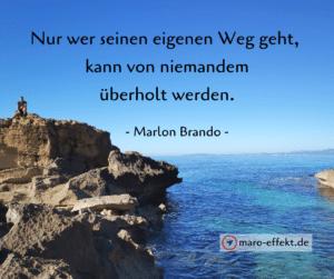 Reisezitat zum Teilen - Marlon Brando - Weg