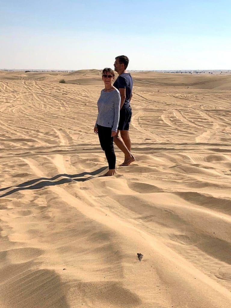 Reise nach Dubai Wüste Wanderung
