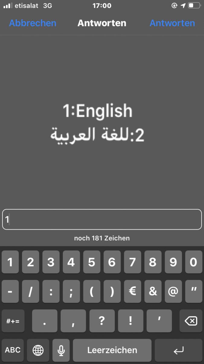 Handy Einstellungen iPhone SIM Karte 1