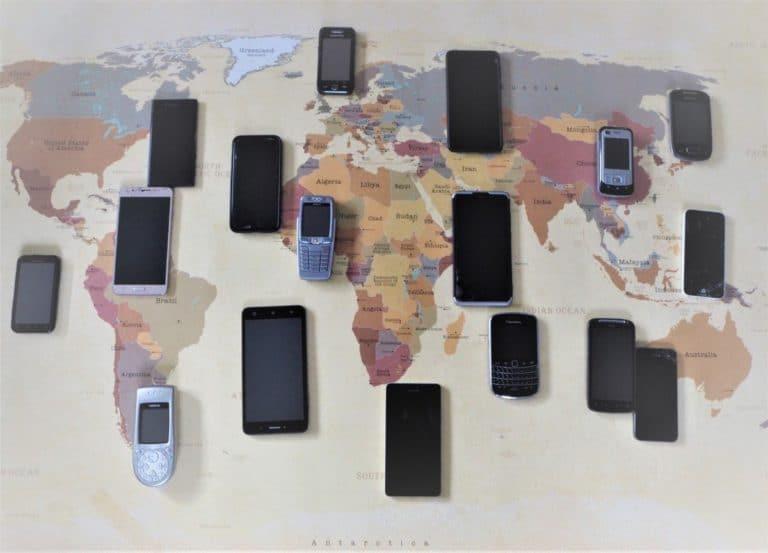 Handy im Ausland Weltkarte