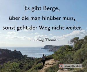 Reise Spruch Ludwig Thoma Berge
