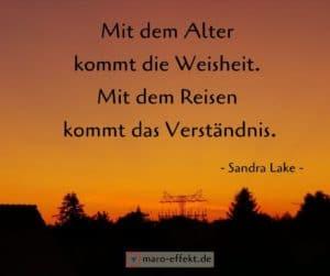 Reise Spruch Sandra Lake Weisheit