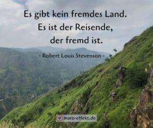 Reise Sprüche Robert Louis Stevenson fremd
