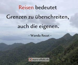 Reise Sprüch Wanda Rezat Grenzen