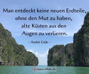 Reise Zitat Andre Gide Mut