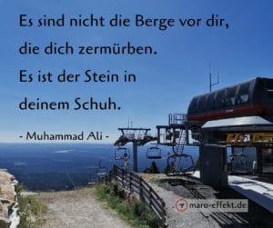 Reise Zitat Muhammad Ali Berge