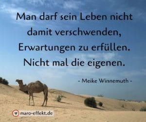 Reise Zitat Meike Winnemuth Erwartung
