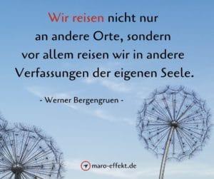 Reisen Sprüche Werner Bergengruen Orte