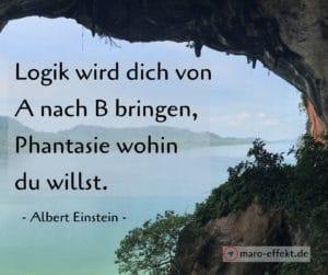 Reisespruch Albert Einstein Fantasie