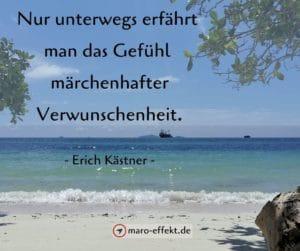 Reisespruch Erich Kästner unterwegs