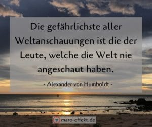 Reisesprüche Alexander von Humboldt Welt