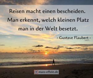 Reisezitat Gustave Flaubert Welt