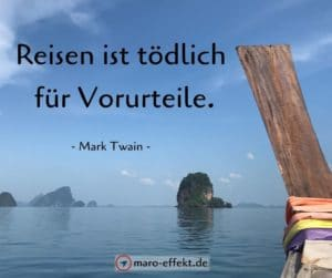 Reisezitat Mark Twain Reisen