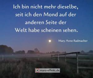Reisezitate Mary Anne Radmacher Mond