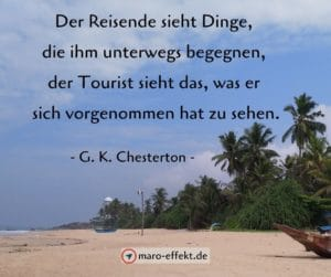 Reisezitate Chesterton Tourist
