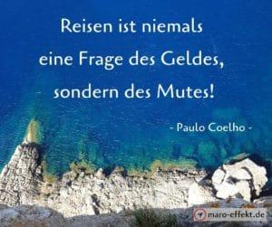 Reisezitate Paulo Coelho Mut