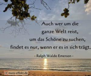 Weisheiten Reise Ralph Waldo Emerson Schöne