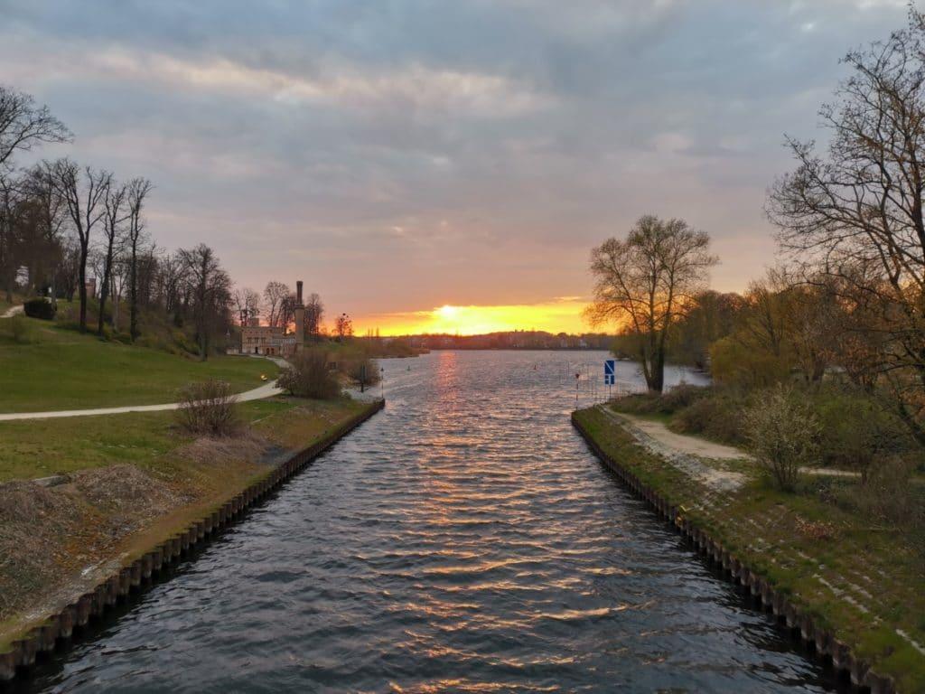 Potsdam erleben Sonnenuntergang