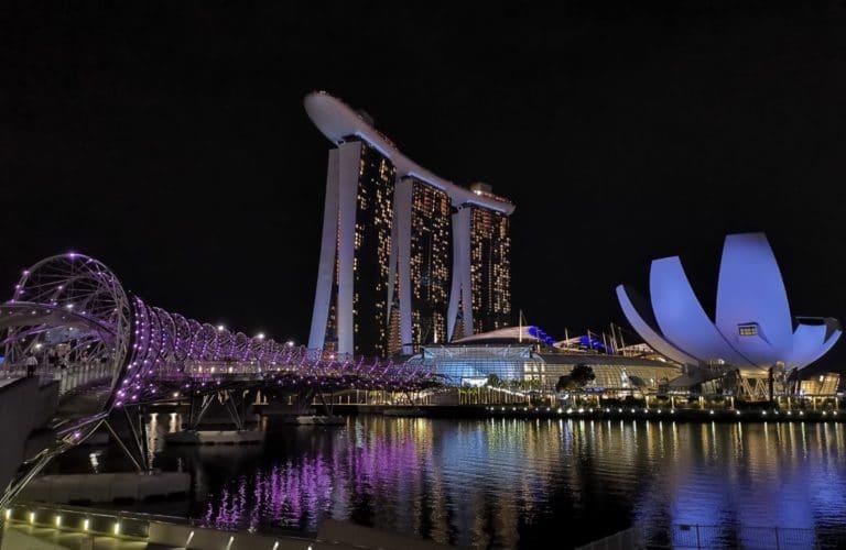 Stopover Singapur Marina Bay Nacht