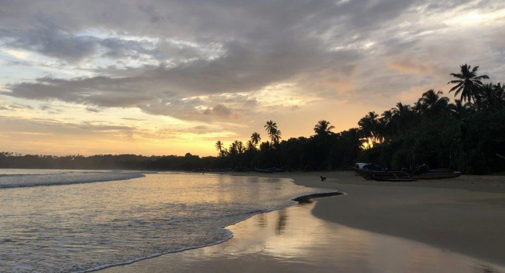 Geld sparen für Reise Sonnenuntergang