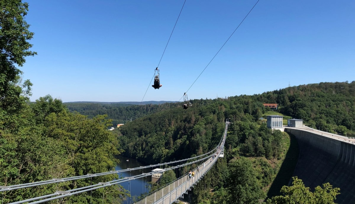 Megaziline Harz Flug Seilrutsche