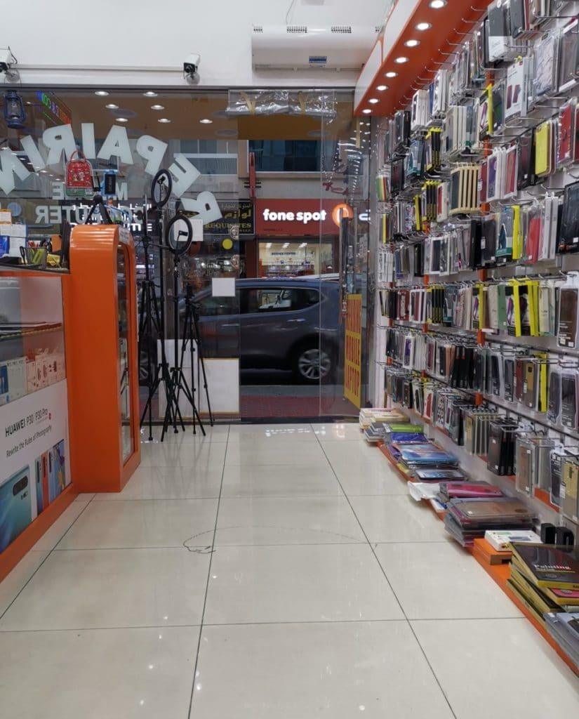 Handyshop Dubai Reparatur Display