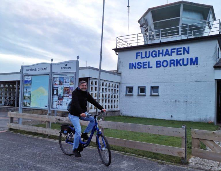 Flughafen Insel Borkum Fahrrad