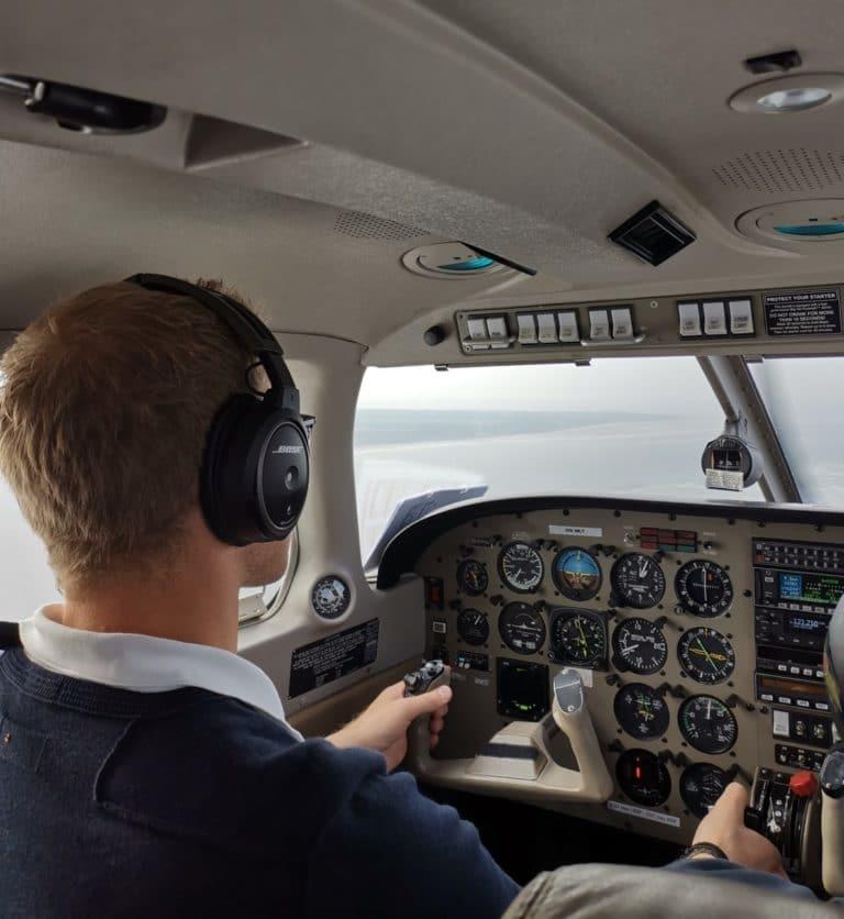 Insel Borkum Leichtflugzeug Pilot