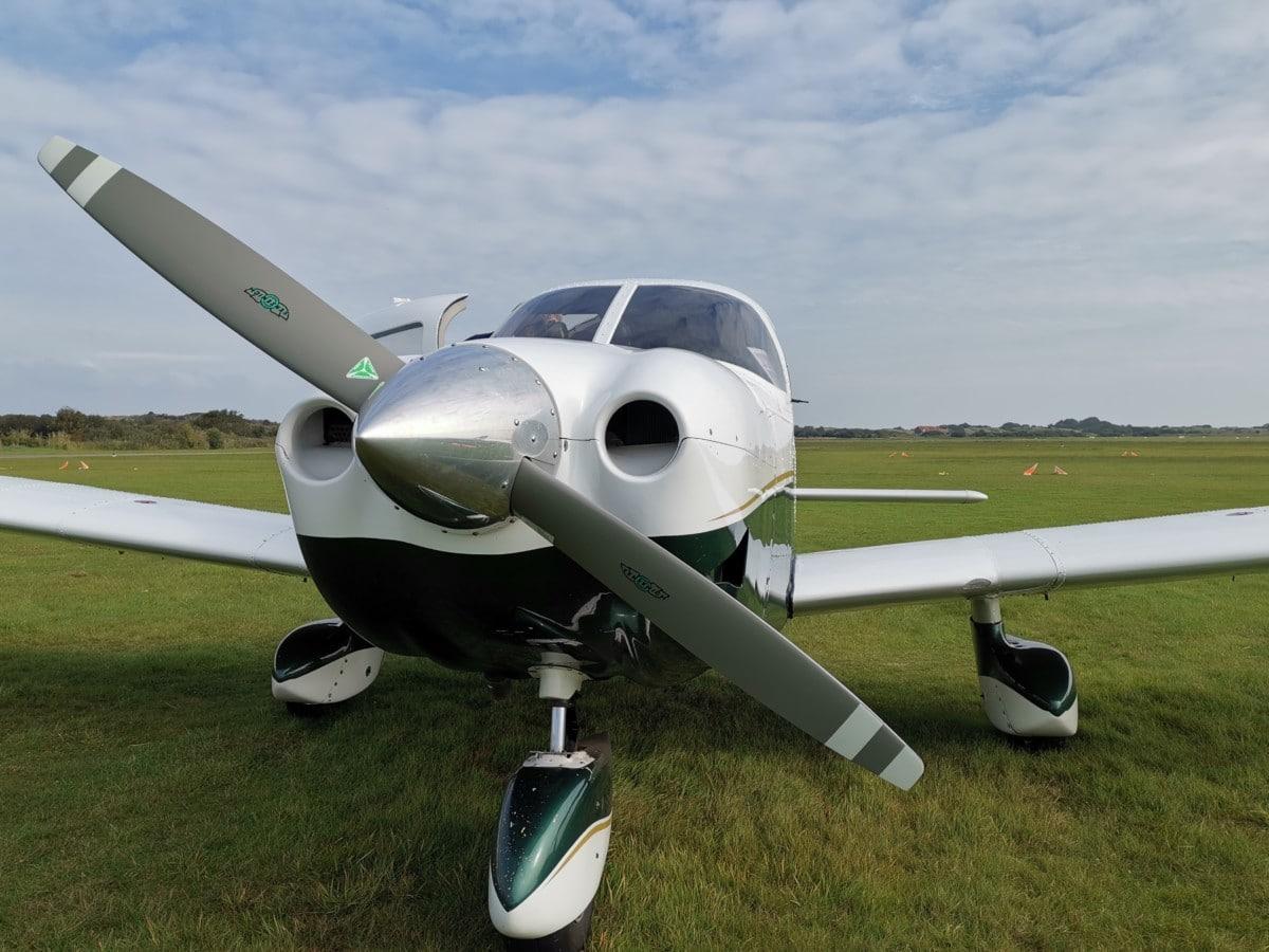 Insel Borkum Rundflug Propellermaschine