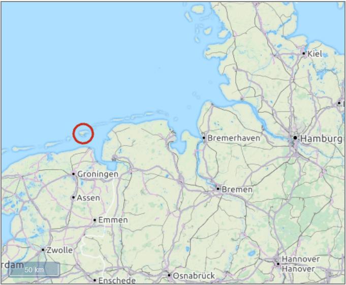 Insel Borkum Standort