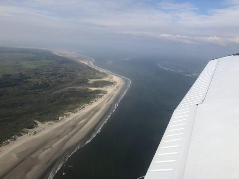 Insel Borkum von oben Rundflug