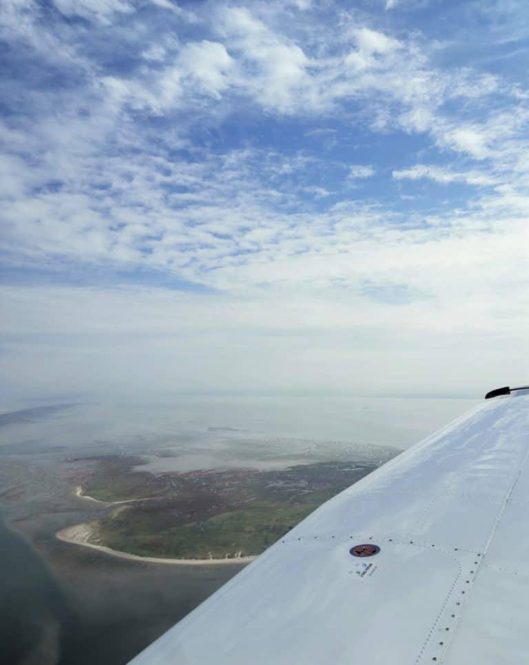 Ostfriesische Insel von oben
